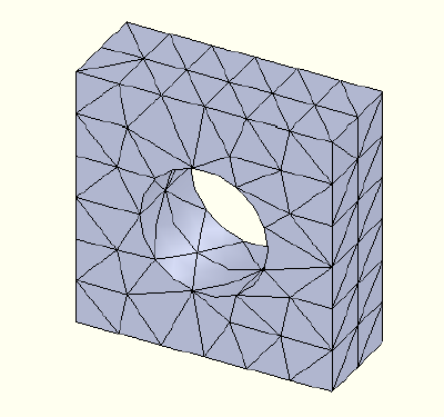 FEA model 2nd order mesh
