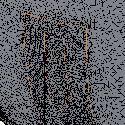 SolidWorks detail of mesh