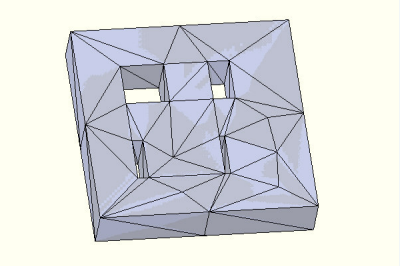 Block with cut features