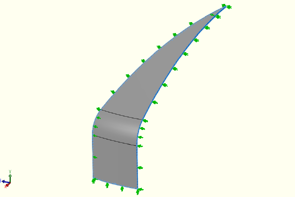 "alt=""FEA model showing restraints"""