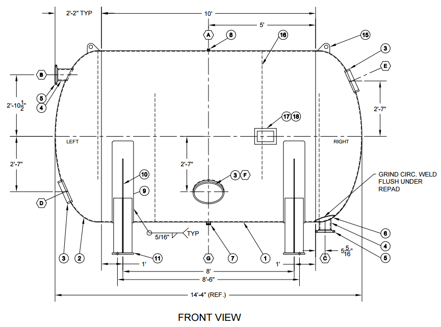 Horizontal Retention Vessel Pressure Vessel Engineering