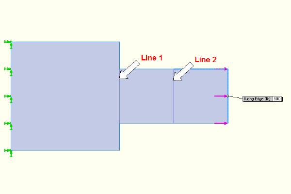 Drawing of applied loads.