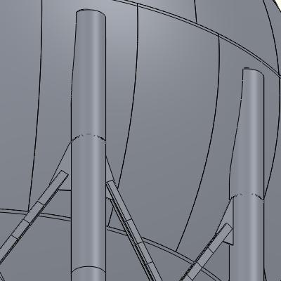 Standard Leg to Sphere Attachment