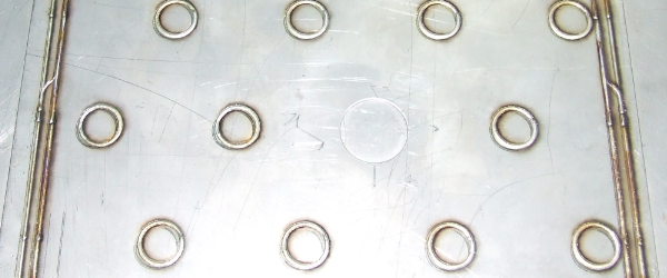 Sample laser welded dimple jacket - prior to inflation
