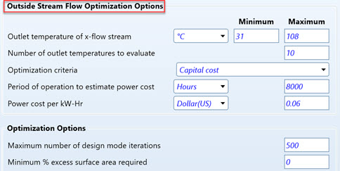 Figure 6 - Optimization Options